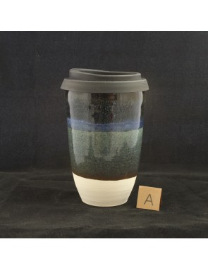 Black and Blue Large Travel Cup