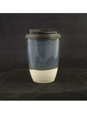 Soft Gray Blue Large Travel Cup