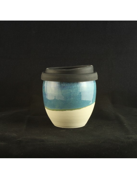 Peacock Blue Small Travel Cup