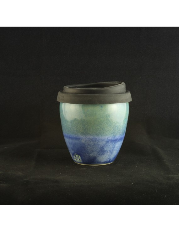 Green and Blue Small Travel Cup