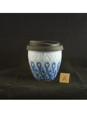 Peacock Diamond Small Travel Cup