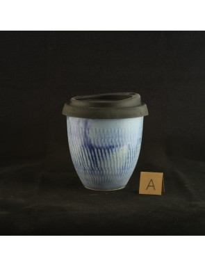 Chattered Blue / Green Small Travel Cup